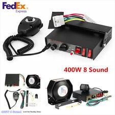 12V 400W 8 Tone Super Loud Car Truck Warning Alarm Police Siren Horn PA Speaker