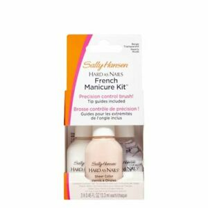 Sally Hansen Hard As Nails French Manicure Kit Nearly NUDE Set
