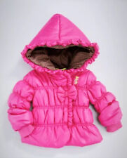Juicy Couture Baby Girl Pink Quilted Hooded Ruffle Trim Coat Jacket -SZ: 18M