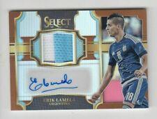 2017-18 Panini Select Soccer Jersey Auto card :Erik Lamela #38/49