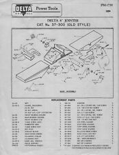 "Delta Rockwell 8"" Jointer - Cat. No. 37-300 (Old Style) Instructions"