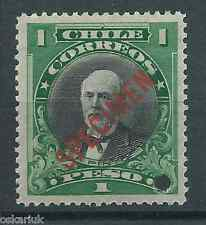 CHILE 1911 Presidents American Bank Note Pinto MNH SPECIMEN