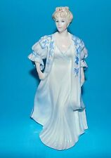 COALPORT figurine ' Lady in blue and white gown ' ornament