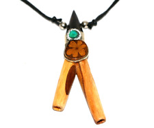 kuripe ayahuasca neklace for Rapé of Palo santo wood - Amazon shamanic snuff
