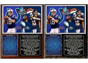 Peyton Manning Pro Football Hall of Fame Photo Plaque