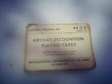 US Army aircraft recognition playing cards training aid 44-2-6_________WE-260P