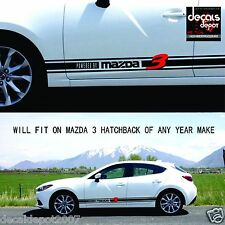 Rock Panel Decal Stripes Fits MAZDA 3 Sports Hatchback 2006 2007 2008 2009 to 17