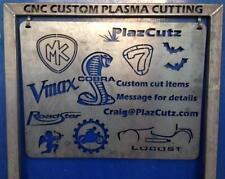 PlazCutz Custom CNC Plasma Cutting, Steel metal Profiling Service, Kit Car Parts