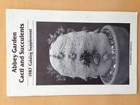 Abbey Garden Cacti & Succulents 1987 Cactus Book Kakteen Seeds Nursery Catalogue