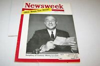 JAN 5 1953 NEWSWEEK magazine HUMPHREY - TREASURY