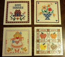 Springbok 4 CROSS STITCH Mini Puzzles 70 pieces Complete includes Full size Patt