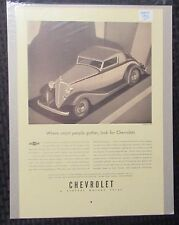 "1933 CHEVROLET Where Smart People Gather 9.5x14"" Automobile B/W Print Ad FVF 7.0"