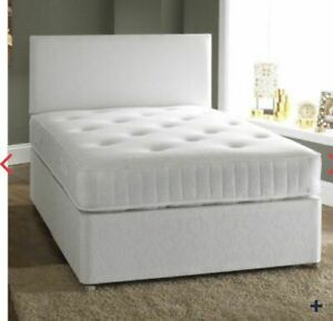 NEW MEMORY FOAM DIVAN BED SET + MATTRESS +HEADBOARD 3FT 4FT6 Double 5FT King