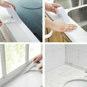 Kitchen Bathroom Self-Adhesive Caulk Strip Sealant Tape Toilet Wall Sealing Trim