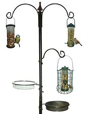 Deluxe 3 Arm Metal Garden Wild Bird Care Traditional Feeding Station Feeder Bath
