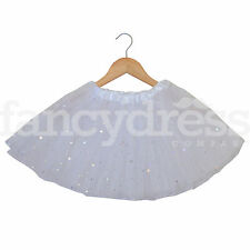White with Sequin Stars Tutu Child Adult Tutu Skirt Christmas Fancy Dress