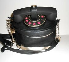 "Betsey Johnson Novelty Telephone Crossbody Purse Bucket Bag 9""x7""x6"""