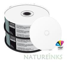50 MediaRange CD R 48x discos CD-R en Blanco Imprimible Cara Completa 90 Min 800MB MR242
