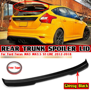 Rear Trunk Spoiler Extension For Ford Focus MK3 MK3.5 ST-Line Hatchback 2012-18