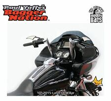 "PAUL YAFFE 1-1/4"" BLACK 10"" MONKEY BARS FOR HARLEY 2015-'17 ROAD GLIDE FLTR"