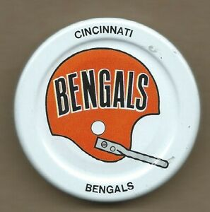 Cincinnati Bengals Gatorade Bottle Cap Lid Early 1970s NFL Football Helmet