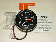 CLASSIC MINI - SMITH'S REV COUNTER TACHO in Black 0 - 8000 rpm - GAE130