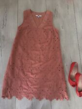 🌸 Next Uk12 Dress Fitted Pencil Straight Lace A Line Orange Floral Knee Mini
