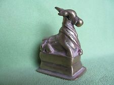OLD ANTIQUE INDIAN HINDU BRASS NANDI OX LORD SHIVA'S FAVORITE ANIMAL STATUE RARE
