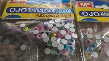 Occhi di vari colori per manualità palline 6 mm manualità