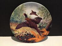 Royal Grafton Fine Bone China Collector Plate ~Pheasants in Flight~ 1987 Vintage