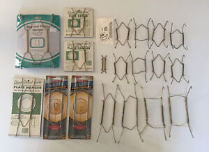 Vintage Gently Used Lot of 19 Adjustable Spring Plate Hangers