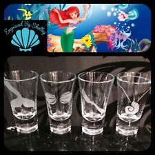 Personalised The Little Mermaid Shot Glasses Set Of 4 Birthday Hen Wedding Gift