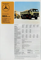 Mercedes 2626 K (6x4) AK (6x6) Prospekt Technische Daten LKW Datenblatt Truck