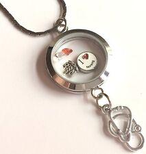 "Nursing RN Caduceus Necklace Memory Locket Stethoscope Graduation Gift RN 29"""