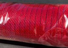 "21"" Red With Red Foil Decomesh Mesh 10 Yards"