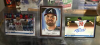 2020 Topps Chrome BRYSE WILSON RC AUTO + Gallery #77 + Topps #641 LOT Braves