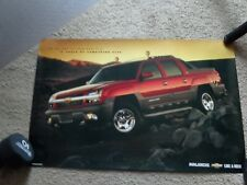 AUTOMOBILIA POSTER~2001 Chevrolet Avalanche Chevy Double Sided Dealer Spec New~