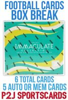 2020 IMMACULATE COLLEGE FOOTBALL CARD HOBBY Box BREAK 1 RANDOM TEAM Break 3932