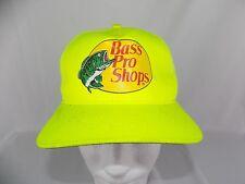 Bass Pro Shops Snapback Neon Yellow Fishing truckers cap Hat
