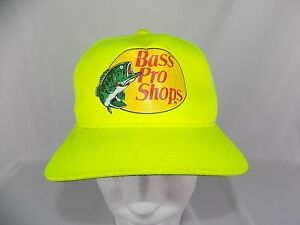 Bass Pro Shops Snapback Neon Yellow Fishing truckers cap Hat
