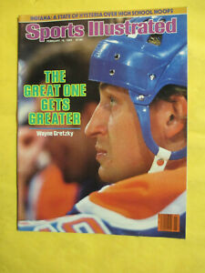 SPORTS ILLUSTRATED 2-18-1985 WAYNE GRETZKY THE GREAT ONE GETS GREATER NO LABEL