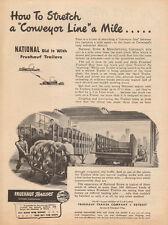 1944 vintage AD FRUEHAUF Trailers Art Loading Wire  BUY WAR BONDS !  091716