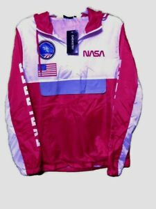 Chemistry NASA Lightweight Windbreaker Jacket USA SpaceLab 3 Size XL Spell Out