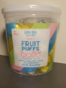Fruit Puffs sweet candy Mix Soft Strawberry Orange Lemon Key Lime 18 Oz USA