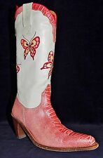 SANCHO LEATHER WITH BUTTERFLY EMBROIDERY BOOTS Sz 6