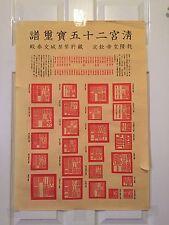 Antique Chinese ( Twenty-five Qing Bao xi Spectrum ) 29 * 20 Inches