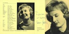 Antonia Fahberg Austrian Lyric Opera Soprano signed advertising brochure