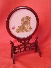 Lanterne, broderie traditionnelle Shu en soie . Région du séchuan. Chine
