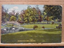 Lima Oh Ohio, Swans in City Park, early postcard   1911