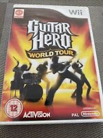 NINTENDO WII: GUITAR HERO WORLD TOUR - GAME ONLY COMPLETE WITH MANUAL- FREE P&P